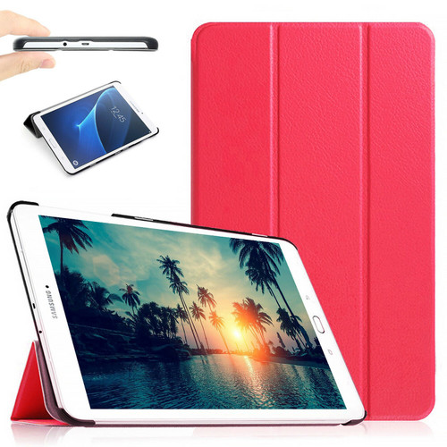 "Pink Stand Smart Flip Case Cover For Samsung Galaxy Tablet E 9.6"" (2015) T560 T561"