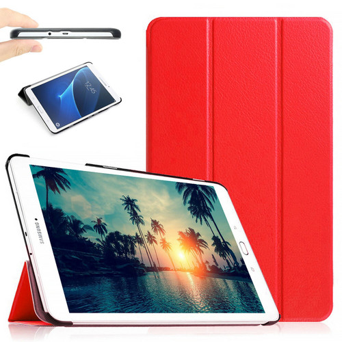 "Red Stand Smart Flip Case Cover For Samsung Galaxy Tablet E 9.6"" (2015) T560 T561"