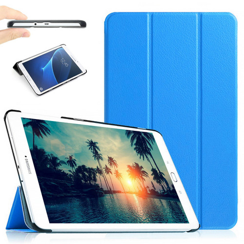 "Sky blue Stand Smart Flip Case Cover For Samsung Galaxy Tablet E 9.6"" (2015) T560 T561"