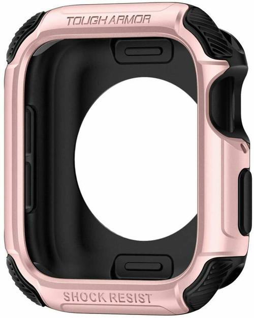 Apple Watch 6 SE 5 4 Case 44mm, Spigen Tough Armor Protective Cover - Rose Gold