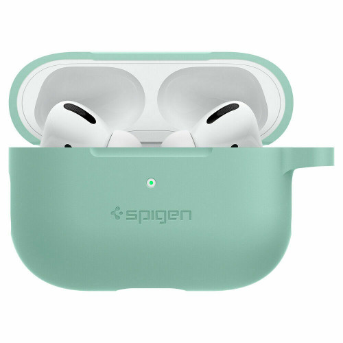 Apple Airpods Pro Case, Spigen Silicone Fit Slim Protective Cover - Apple Mint
