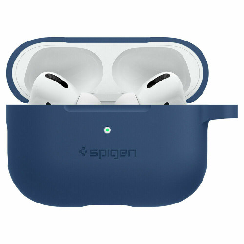Apple Airpods Pro Case, Spigen Silicone Fit Slim Protective Cover - Deep Blue
