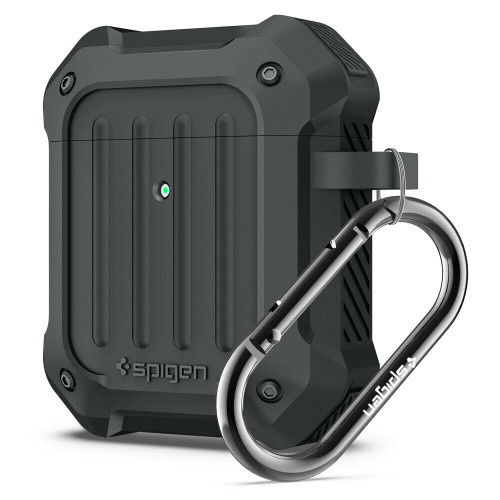 Charcoal Spigen Tough Armor Case Designed for Apple Airpods Case Cover for Airpods 1 & 2