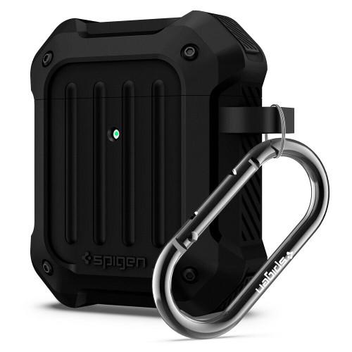 Apple Airpods Pro Case, Spigen Tough Armor Shockproof Protective Cover - Black