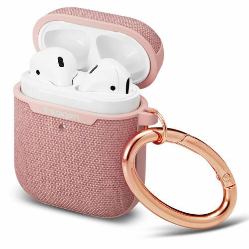 Rose gold Apple AirPods Pro Case, Spigen Urban Fit Shockproof Cover LED Light Visible