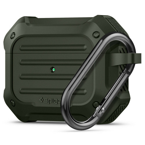 Apple Airpods Pro Case, Spigen Tough Armor Shockproof Cover - Military Green