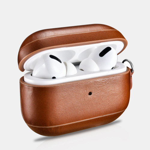 AirPods Pro Vintage Leather Protective Case - Brown