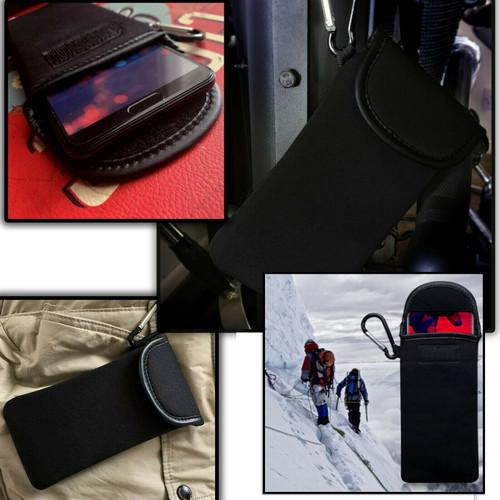 Apple iPhone 12 Pro max Shocksock Neoprene Soft Pouch  Carabiner Case