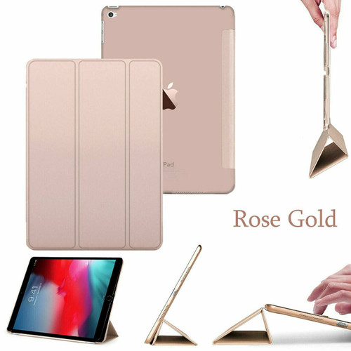 smart magnetic leather stand case Apple Ipad Mini 5  Rose Gold