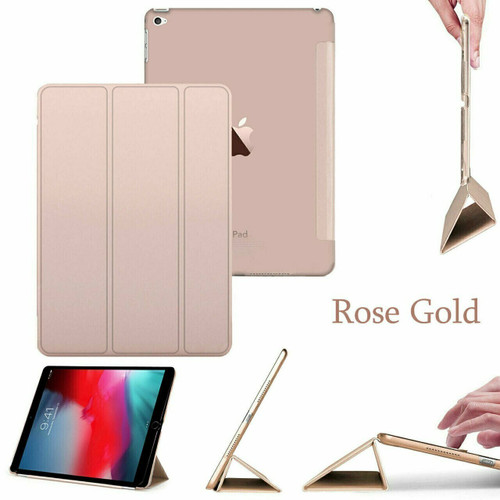 smart magnetic leather stand case Apple Ipad Mini 4  Rose Gold