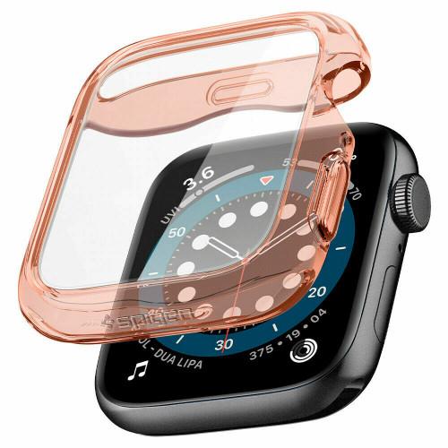 Apple Watch 6 SE 5 4 Case 40mm, Spigen Ultra Hybrid Slim Cover - Rose Crystal
