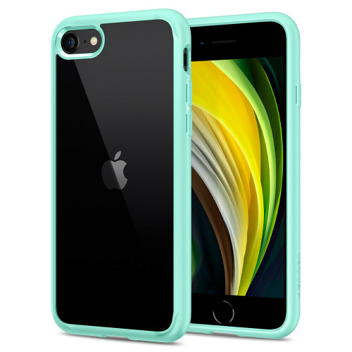 For iPhone SE (2020), 8, 7 Case, Spigen Ultra Hybrid 2 Protective Cover - Mint