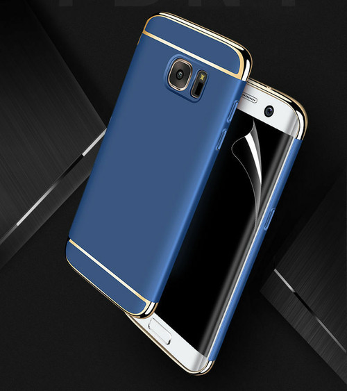 Samsung Galaxy S6 edge Luxury Ultra Slim Shockproof Bumper Case Navy