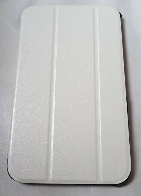 White Slim Tri-Fold PU Leather Case for Samsung Galaxy Tab 3 8 (T310/T311)