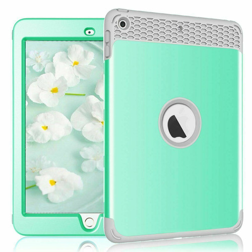 """Mint green iPad Case For New iPad 6th Generation 2018 9.7"""" Heavy Duty Kids Shockproof Cover"""
