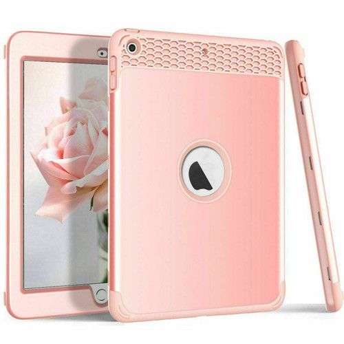 """Rose gold iPad Case For New iPad 6th Generation 2018 9.7"""" Heavy Duty Kids Shockproof Cover"""