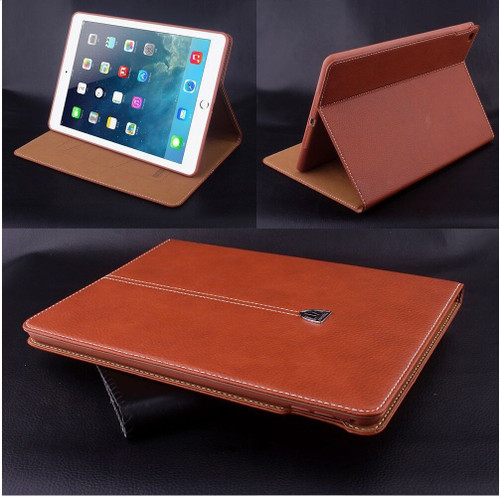 Brown Luxury Magnetic Smart Leather Flip Wallet Case For iPad 9.7 2017 2018