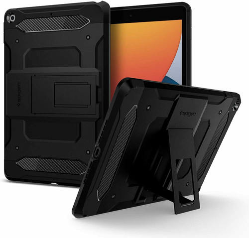iPad 10.2 (7th & 8th Generation) 2020 Case, Spigen Tough Armor Tech Cover -Black