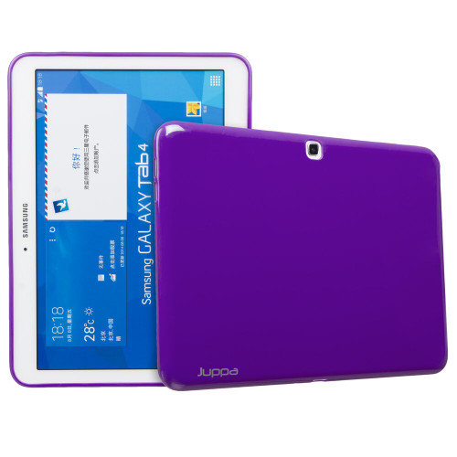 Purple Slim Fit TPU Gel Rubber Case Cover for Samsung Galaxy Tab 4 10.1 Inch T530 T531