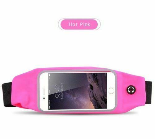 Apple iPhone 12 pro max pink Waist Band Sports Belt Phone Holder Running Gym case