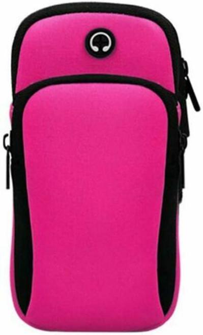 Pink iphone  12 Sports Mobile Arm Phone Holder Bag Running Gym Exercise key holder