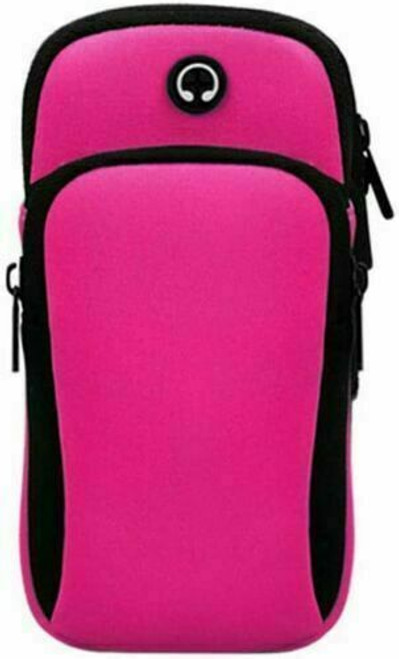 Pink iphone  11 Sports Mobile Arm Phone Holder Bag Running Gym Exercise key holder