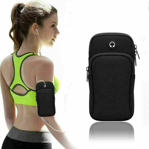 Black  Samsung galaxy s21 Sports Mobile Arm Phone Holder Bag Running Gym Exercise key holder