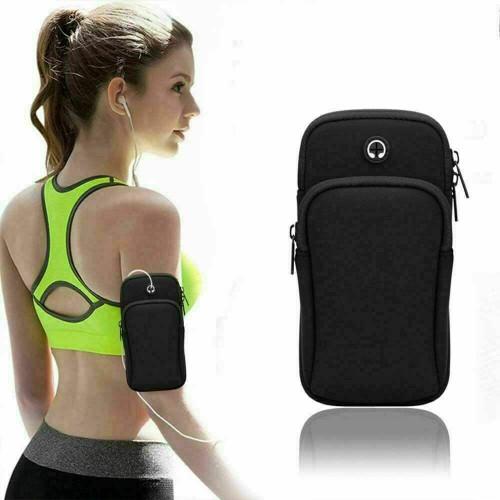 Black  Samsung galaxy s21 plus Sports Mobile Arm Phone Holder Bag Running Gym Exercise key holder