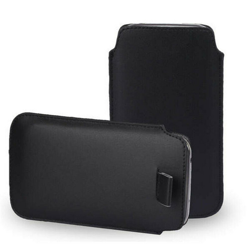 Samsung Galaxy Z Fold2 5G Leather Slim Pull Tab Phone black Cover