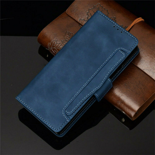 Samsung Galaxy Z Fold 2 5G blue Flip Leather Case Cover Multi-Cards Pack