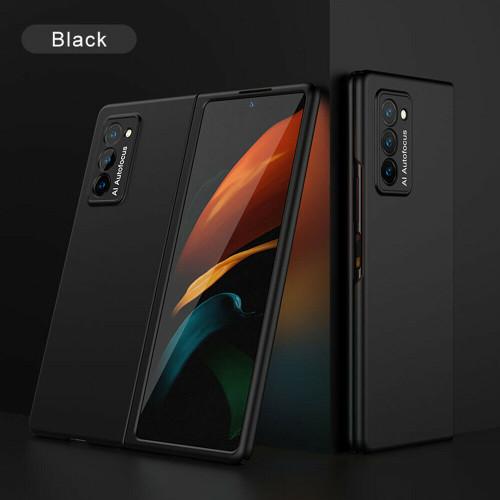 For Samsung Galaxy Z Fold 2 5G Luxury Shockproof Matte Slim PC Phone black Case