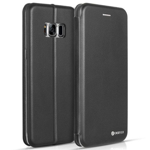 Caseflex Samsung Galaxy S8 Plus Snap Wallet Case - Black (Retail Box)