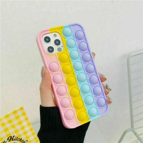 Pop Fidget Push Bubble Toys Phone Cover Case  for iPhone 12 pro max
