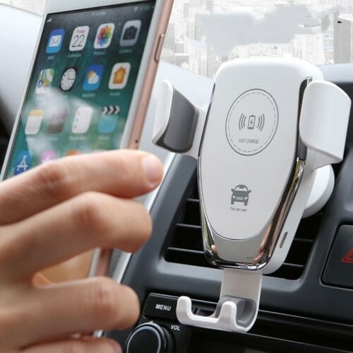 White Fast 10W Qi Car Wireless Charger Mount Holder For Samsung Galaxy  S9/S9+ Note8/9