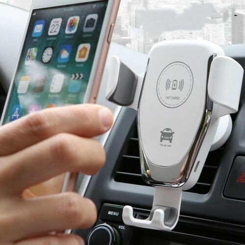 White Fast 10W Qi Car Wireless Charger Mount Holder For Samsung Galaxy  S21 s21 ultra s21 plus