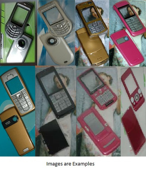 Gold full housing covers and keypad for Nokia 6080