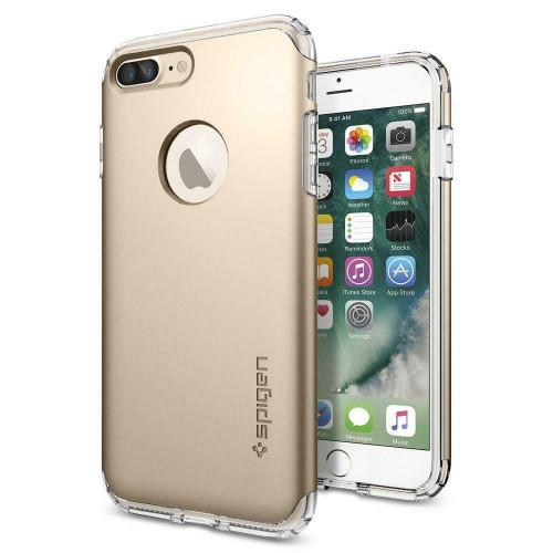 iPhone 7 Plus Case, Spigen Hybrid Armor Slim Dual Layer Cover - Champagne Gold