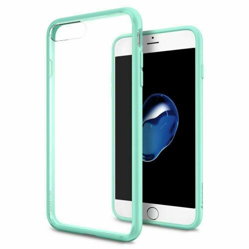 iPhone 7 Plus Case, Spigen Ultra Hybrid Clear Slim Protective Cover - Mint