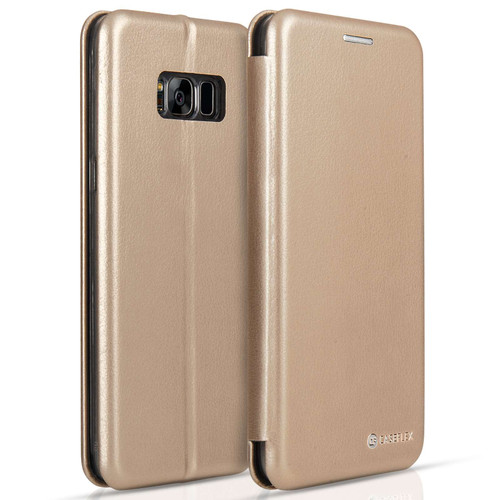 Caseflex Samsung Galaxy S8 Snap Wallet Case - Gold (Retail Box)