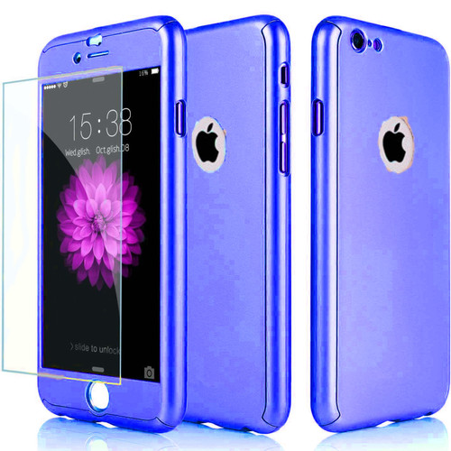 Blue Shockproof 360° Full Body Cover Protective for iPhone 5 / 5S