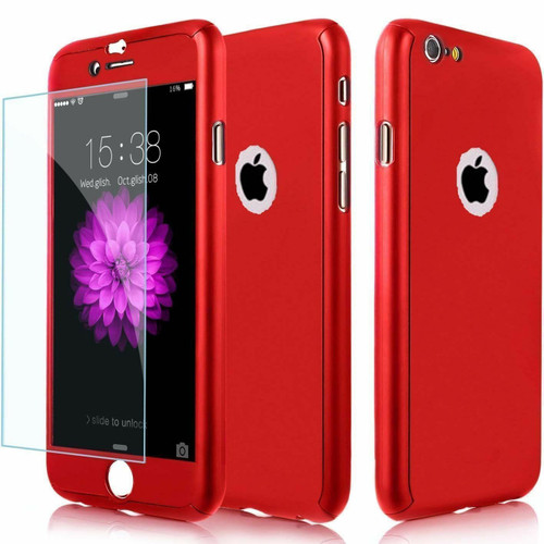 Red  Shockproof 360° Full Body Cover Protective for iPhone 5 / 5S