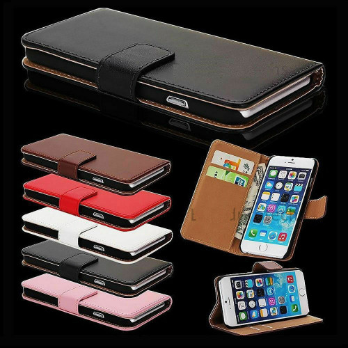 Black Pu Leather Flip Wallet Cover for iPhone 5 / 5S