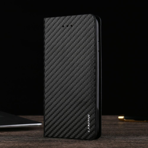Magnetic Carbon Leather Flip Wallet Case Cover for iPhone 5 / 5S