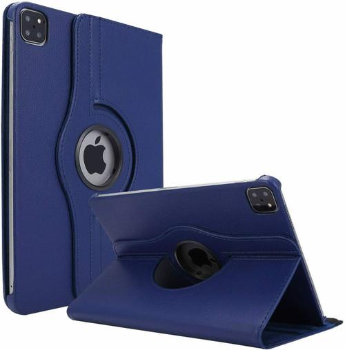Apple iPad Pro 12.9 2021 navy 360 Rotating Stand Case Folding Leather Case