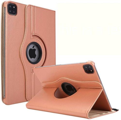 Apple iPad Pro 12.9 2021 rose gold 360 Rotating Stand Case Folding Leather Case