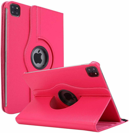 Apple iPad Pro 12.9 2021 pink 360 Rotating Stand Case Folding Leather Case