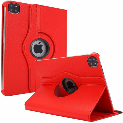 Apple iPad Pro 12.9 2021 red 360 Rotating Stand Case Folding Leather Case