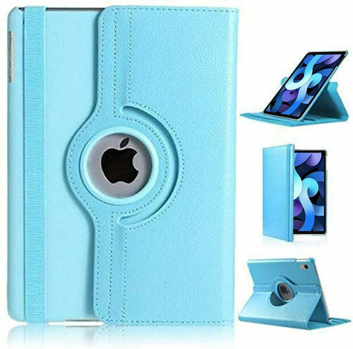 For Apple iPad Pro 11 3rd Generation Case 2021 light blue 360 Smart Rotating Leather Cover