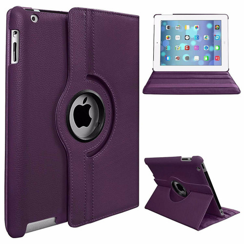 For Apple iPad Pro 11 3rd Generation Case 2021 purple  360 Smart Rotating Leather Cover