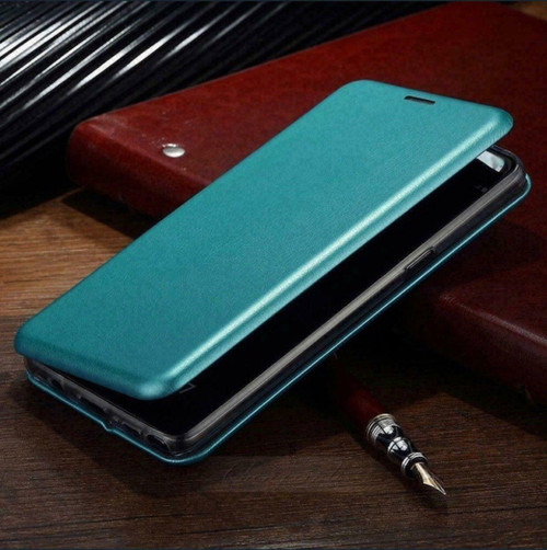 Blue Magnetic Wallet Cover For Samsung Galaxy A72  Shockproof Phone Cover